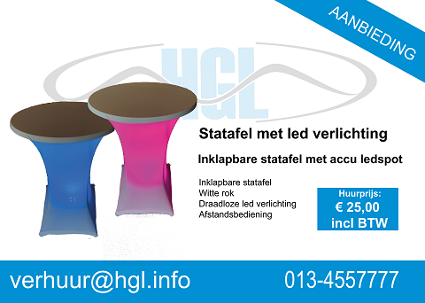Led statafel / €25 incl btw